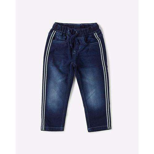 FLYING MACHINE KIDS Washed Skinny Jeans with Drawstring Waist