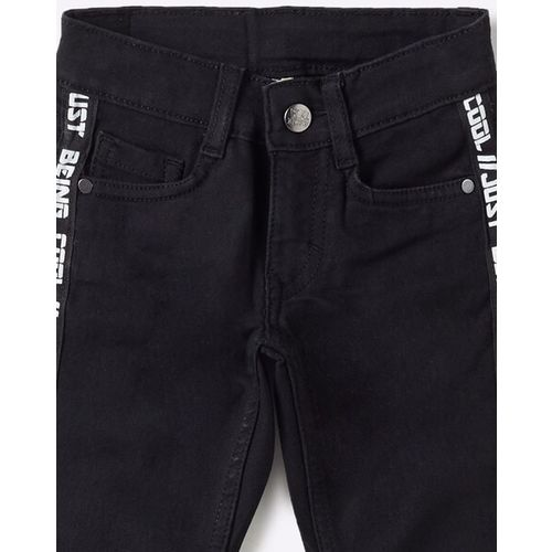FLYING MACHINE KIDS Skinny Jeans with Typographic Taping