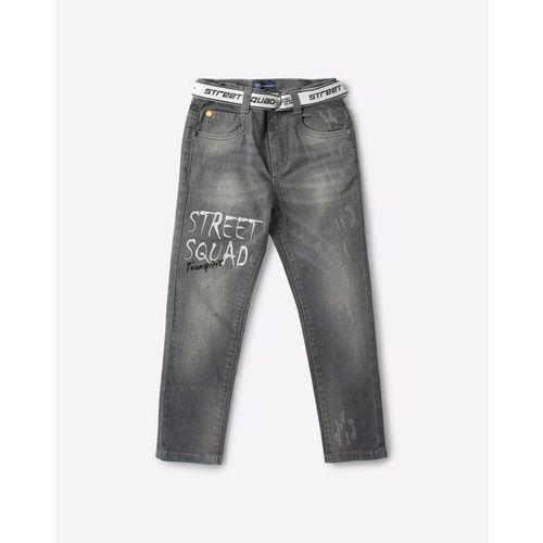 KB TEAM SPIRIT Mid-Wash Jeans with Belt