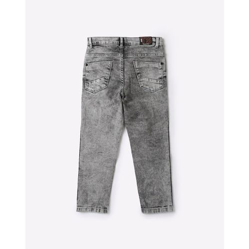 KB TEAM SPIRIT Washed Jeans with Contrast Striped Panels