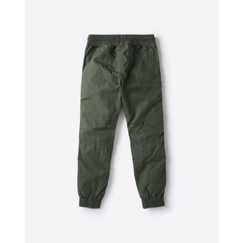 KB TEAM SPIRIT Textured Jogger Pants with Elasticated Drawstring Waistband