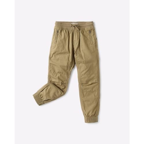 KB TEAM SPIRIT Textured Jogger Pants with Elasticated Drawstring Waistband