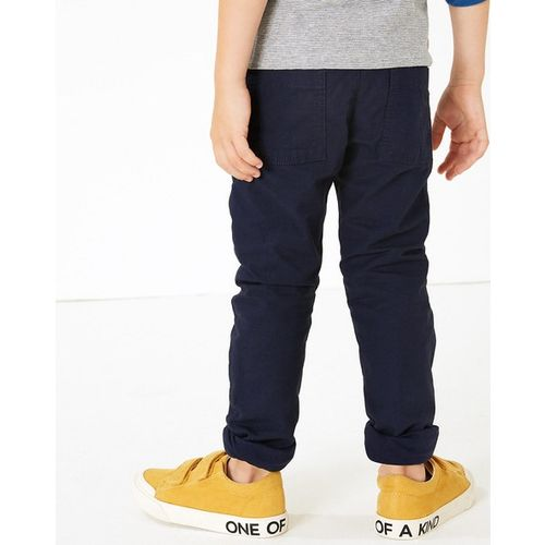Marks & Spencer Flat-Front Trousers with Insert Pockets