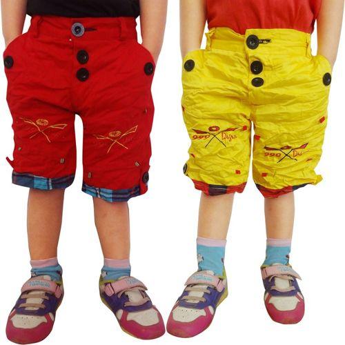 AD & AV Short For Boys Casual Solid Cotton Viscose Blend(Multicolor, Pack of 2)