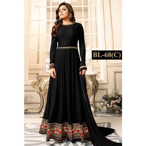 Salwar Soul Womens New Black Heavy Designer Party Wear Casual Anarkali Suit Party Wear For Girls