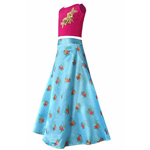 Fashion Dream Girls' Satin Lehenga Choli