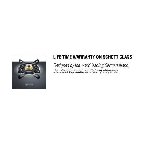 Prestige Royale Plus Glass Manual Gas Stove(3 Burners)
