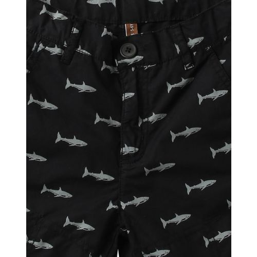 FIRST CLASS Printed Flat-Front Shorts
