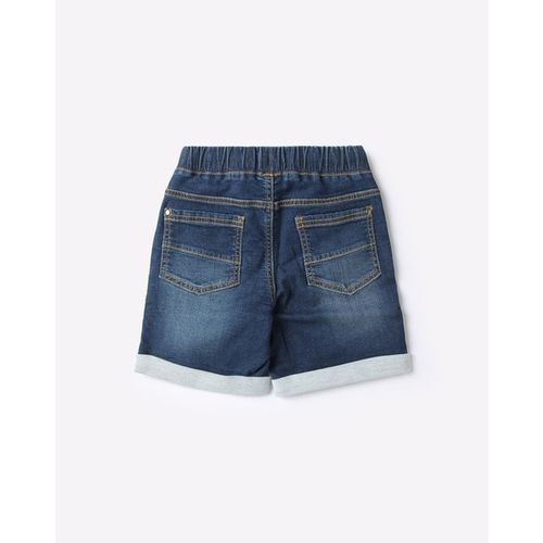 KB TEAM SPIRIT Lightly Washed Shorts with Tie-Up