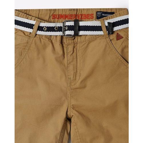 KB TEAM SPIRIT Mid-Rise Shorts with Detachable Belt