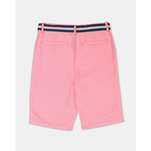 THE CHILDREN'S PLACE Flat-Front Shorts with Colourblock Belt
