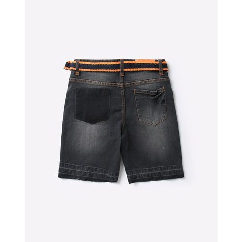 POINT COVE Washed Skinny Shorts