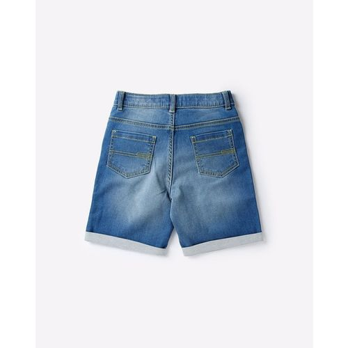 KB TEAM SPIRIT Washed Denim Shorts