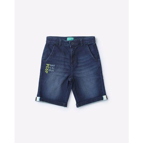KB TEAM SPIRIT Washed Mid-Rise Denim Shorts