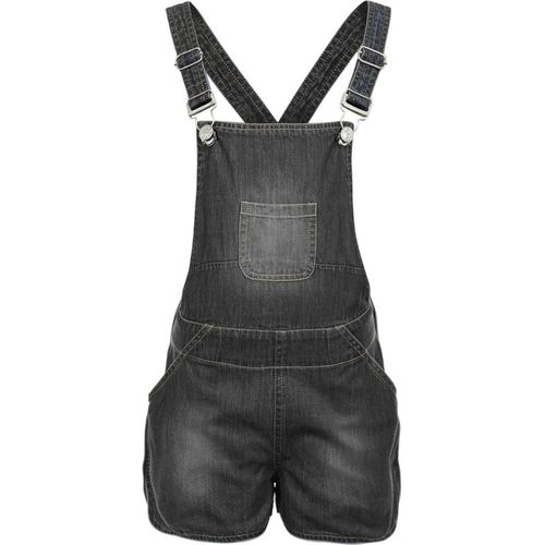 Naughty Ninos Dungaree For Girls Casual Solid Denim(Black, Pack of 1)