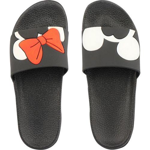 Shoetopia Boys & Girls Slip On Slipper Flip Flop(Black)