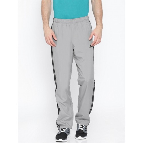 Llanura Gallina Espejismo  Buy Adidas Grey ESS 3S WV Polyester Training Track Pants online |  Looksgud.in