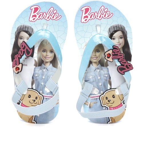Barbie Girls Slip On Slipper Flip Flop(Light Blue)