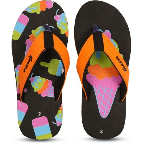 Kraasa Girls Slip On Slipper Flip Flop(Orange)