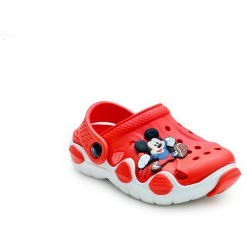 Hooh Boys Sling Back Clogs(Red)