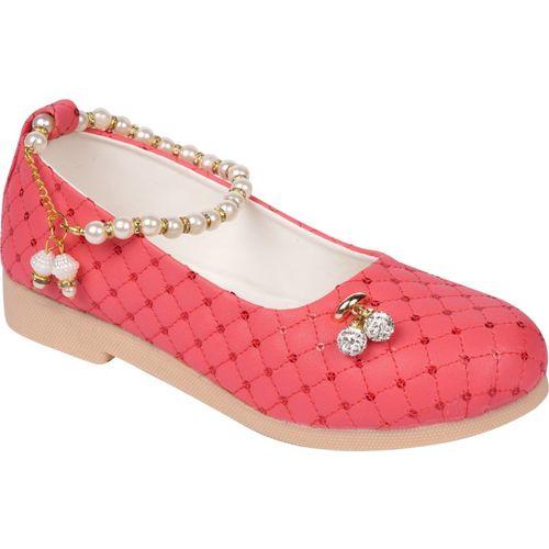 LNG Lifestyle Girls Pink Velcro Ballerinas