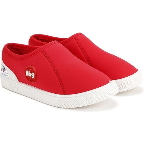 Bubblegummers Girls Slip on Sneakers(Red)