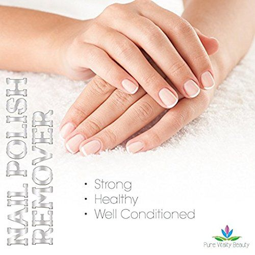 Micro 100 Tools Natural and Plant Based Non Acetone Nail Polish Remover for Strong, Well Conditioned Nails and Cuticles
