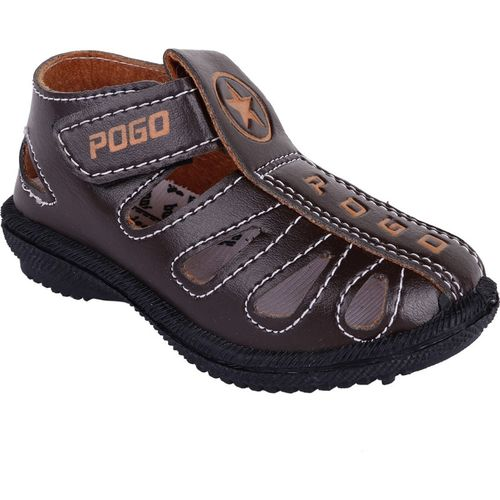 BUNNIES Boys & Girls Velcro Sports Sandals(Brown)