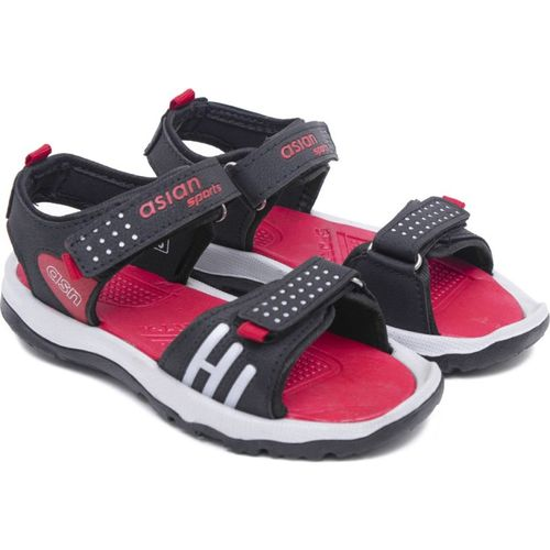 Asian Boys & Girls Velcro Sports Sandals(Red)