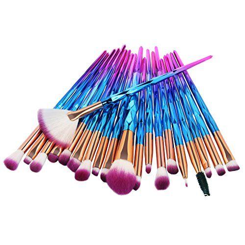 Tenmon Eye Brush Set, 20 Pcs Unicorn Eyeshadow Eyeliner Blending Crease Kit Makeup Brushes Make Up Foundation Eyebrow Eyeliner Blush Cosmetic Concealer Brushes (Blue)