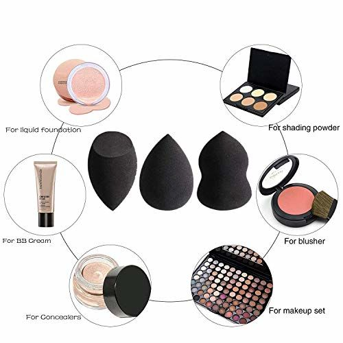 Spanking Makeup Sponges Latex-free Blender - Pack of 3