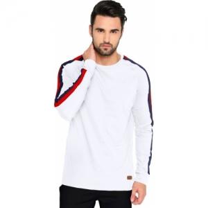 Maniac Red, White, Blue Cotton Round or Crew  T-Shirt