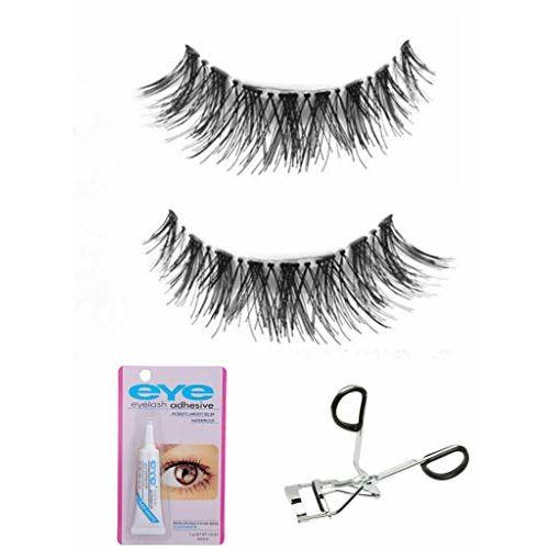 Colour Blast combo of Eyelashes Eyelashes Glue And Eyelash Curlers False Eyelashes 3D Mink Eyelashes Strip For Women Natural Eyelashes
