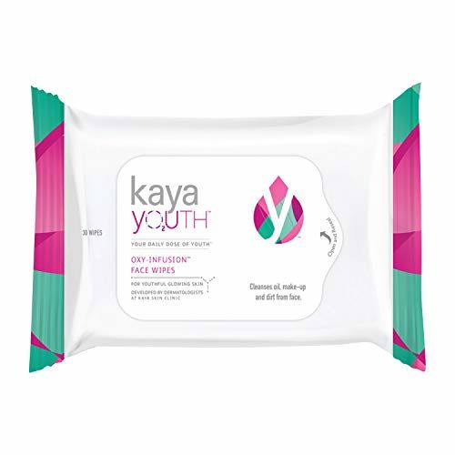 Kaya Youth Oxy-Infusion Face Wipes,Boosts Skin Oxygen,Clears dirt and removes makeup,Gives fresh and glowing skin,Developed by Dermatologists,30 Pcs
