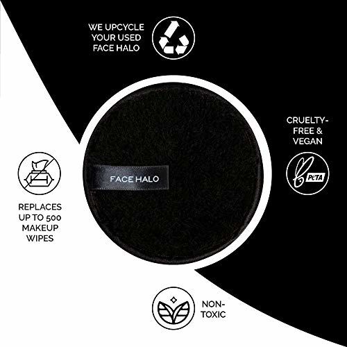 Face Halo | Reusable Makeup Remover Pads, Round Makeup Remover Pads for Heavy Makeup & Masks - Microfiber Makeup Remover Wipes for Mascara, Eye Shadow,