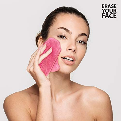 Danielle Erase Your Face - Reusable Makeup Removing Cloths ~ Facial Care Set (4 Pk Cloths Brights)