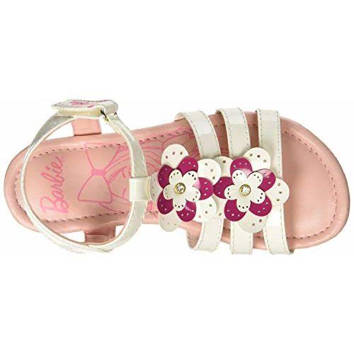 Barbie Girl's White Fashion Sandals-3 UK/India (35 EU) (STY-18-19-002219)