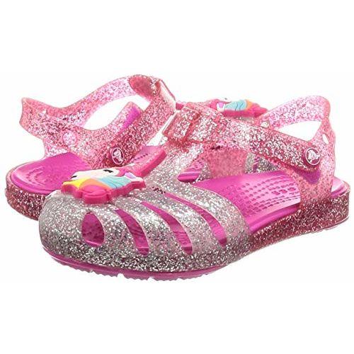 crocs Girl's Pink Ombre Outdoor Sandals-C6 (205535-6PD) (6 US)