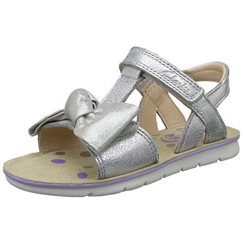 Clarks Girl's MimoGiggle Inf Silver Fashion Sandals - 7 Kids UK/India (24 EU)