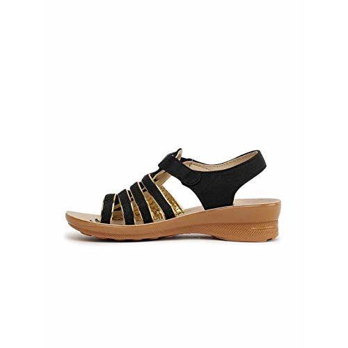 PARAGON Girl's Black Outdoor Sandals-11 Kids UK (29 EU) (PU0261C-Black)