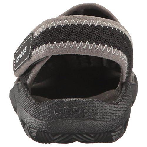 crocs Unisex's Black/White Outdoor Sandals-C6 (204024-066)