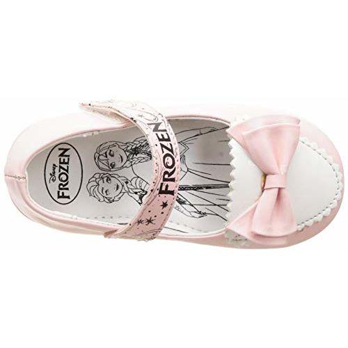 Frozen Girl's Peach Ballet Flats- 9 UK (27 EU) (10 Kids US) (FZPGBE2007_Pink)