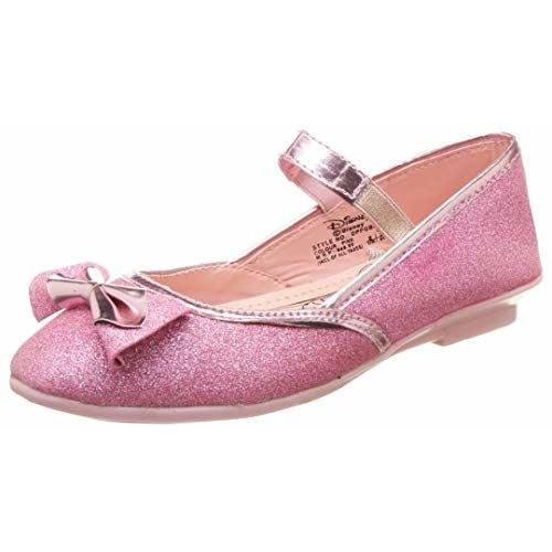 Disney Princess Girl's Ballet Flats- 6 Kids UK/India (23 EU) (DPPGBE2085_Pink)