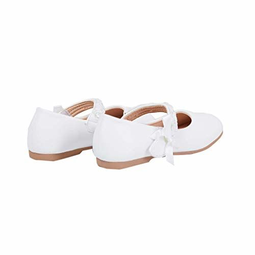 Max Girl's White Ballet Flats-11 Kids UK (29 EU) (KGBSW1902)