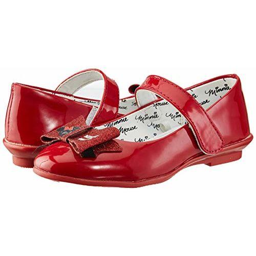 Minnie Girl's Red Ballet Flats-6 Kids UK/India (23 EU) (MMPGBE0277)