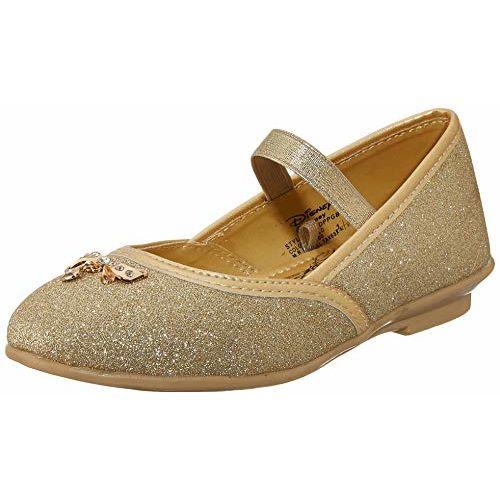Disney Princess Girl's Ballet Flats- 5 Kids UK/India (22 EU) (DPPGBE2085_Golden)