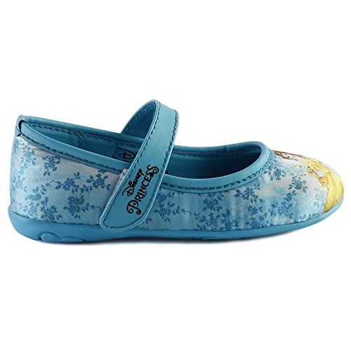 Disney Princess Girl's Sky Blue Ballet Flats- 5 Kids UK/India (22 EU) (DPPGBE0366)