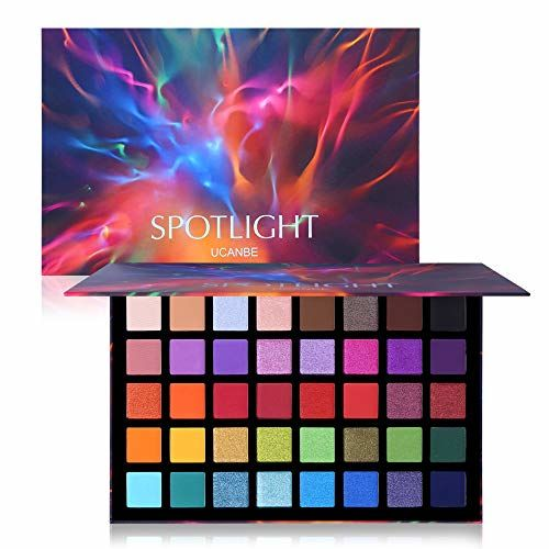 UCANBE UCANBE Spotlight Eyeshadow Palette Professional 40 Color Eye Shadow Matte Shimmer Makeup Pallet Highly Pigmented Colorful Powder Long Lasting Waterproof Eye Shadow