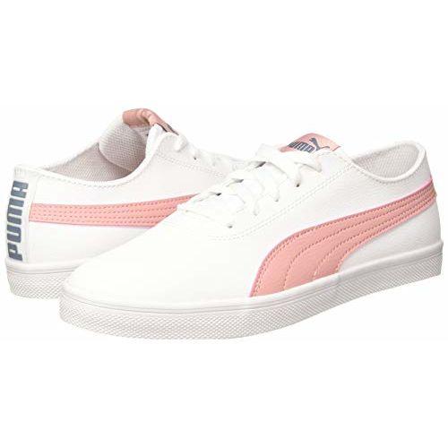 Puma Unisex Urban SL Jr White-Bridal Rose Sneakers- 4 UK (37 EU) (5 Kids US) (36606111)