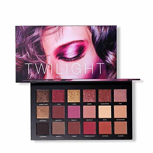 SuperSWK 18 Colors Eyeshadow Palette Shimmer Matte Pigmented Pressed Eyes Shadow Makeup Long Lasting Cosmetic (2)